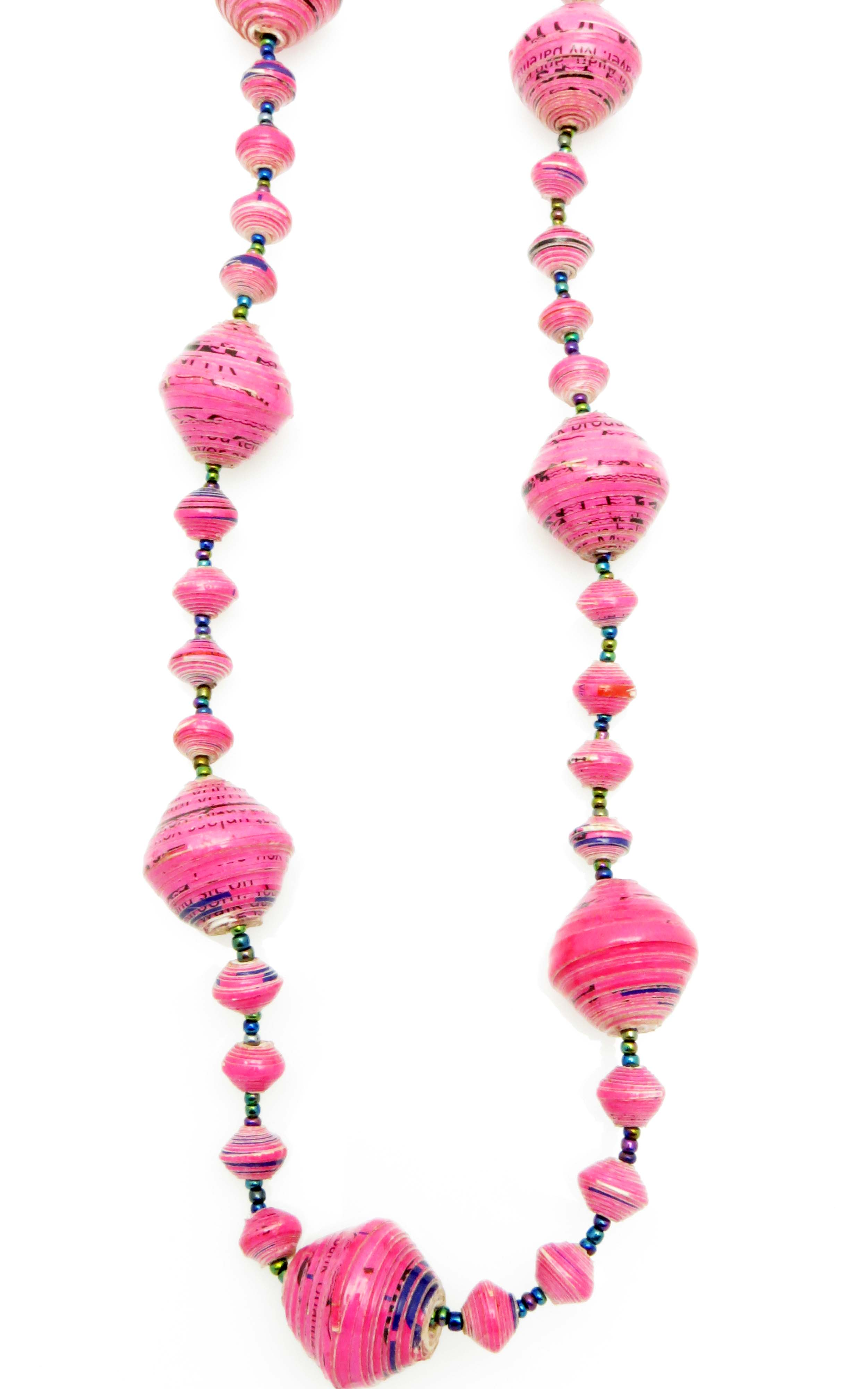 Hot pink gigantic bead necklace